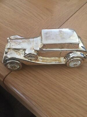 Vintage 80s Car silver plated money box money box car old fashioned car bank