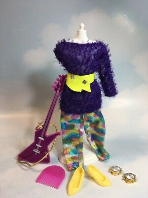 Jem and the Holograms ROXY Clothes Guitar Accessories vintage Hasbro 4206/4010