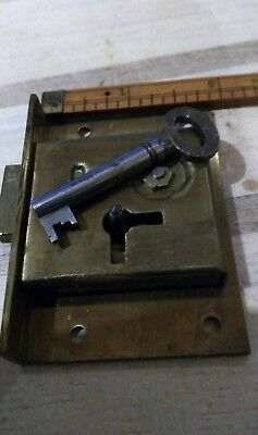 "Half mortice door lock1 1 7/8""x 2 5/8"" ....Solid Brass old stock top quality."