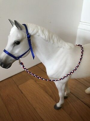 Model Horse Lead Rope Shank Line Breyer Traditional 1:9 Scale Hand-braided
