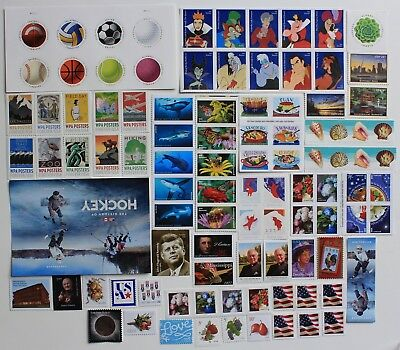 2017 Us Stamp Year Set, Commemoratives, High Values, Coils, Booklets & Sheets.