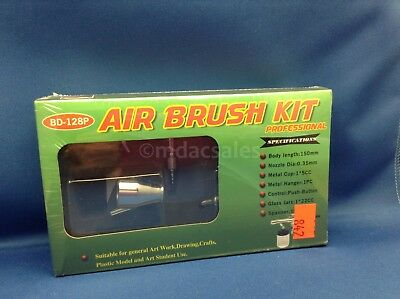 BRAND NEW! AIR BRUSH KIT PROFESSIONAL BD-128P 0.35mm NOZZLE