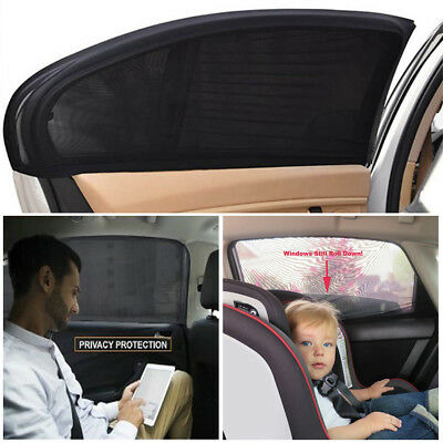 2pcs Car UV Side Rear Window Sun Visor Shade Mesh Cover Shield Sunshade Sunshade
