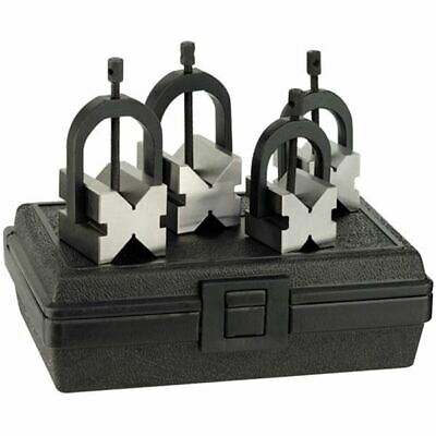 "Fowler 52-475-500-0 1-1/4"" & 1-1/2"" X-Blox V-Block & Clamp Set"