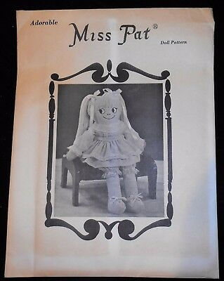 "Vintage Soft Miss Pat 24"" Tall Doll Pattern-Alice's Dolls Sewing Pattern"