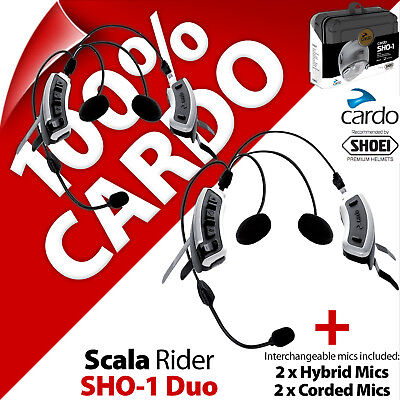 Cardo Scala Rider SHOEI SHO-1 DUO Bluetooth Motorcycle Helmet Intercom Headsets