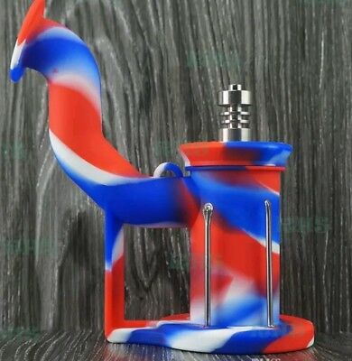 silicone dab rig water pipe, send message with the color you would like.