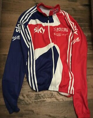 Team Gb Great Britain British Cycling Adidas L/s Italian Cycling Jersey Medium