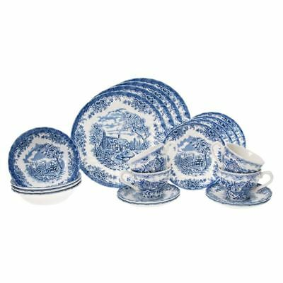 Brook Blue Chelsea by Churchill - 20pc Dinner Set (Made in England)