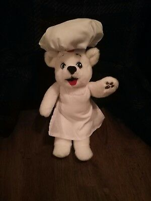 Plush BIMBO Bear Bakery - baker - authentic - NEW With cute chefs hat and apron