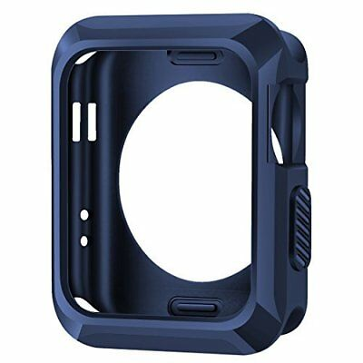 Apple Watch Series 3 Case Rugged Slim Protective TPU iWatch 42mm Cover Blue New