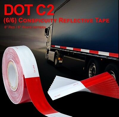 """2"""" DOT-C2 Approved Reflective Tape Class 2 Truck Trailer Camper Safety Tape"""