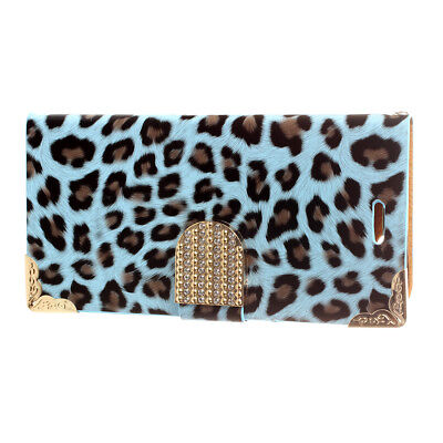 Fashionable Wallet Leopard iPhone 6 Case F Leather Cover with Card Holder/S Y4T7