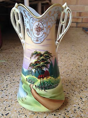Beautiful Japanese Vase hand painted attractive tones