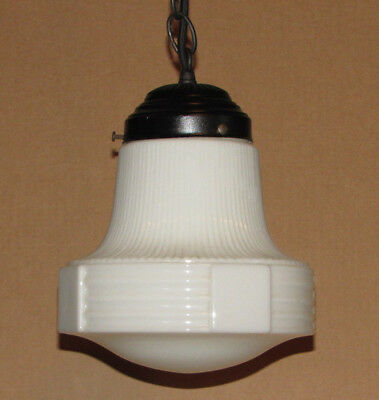 1920's Art Deco Pendant Lamp Light, Ceiling Fixture, Chandlier, Hanging Lamp
