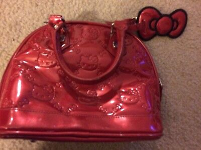 7991e86a2f5c HELLO KITTY LOUNGEFLY Purse Faux Leather Dome Purse Handbag Red ...