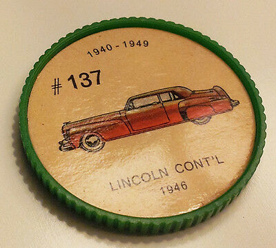 Vintage Jell-O Collectors Picture Wheel Coins - 1940 - 1949 - #137, Lincoln Cont