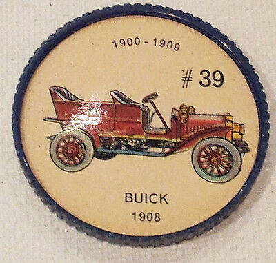 Vintage Jell-O Picture Wheel Coin -- (1900 - 1909) -- #39 Buick