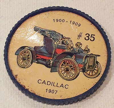Vintage Jell-O Picture Wheel Coin -- (1900 - 1909) -- #35 Cadillac