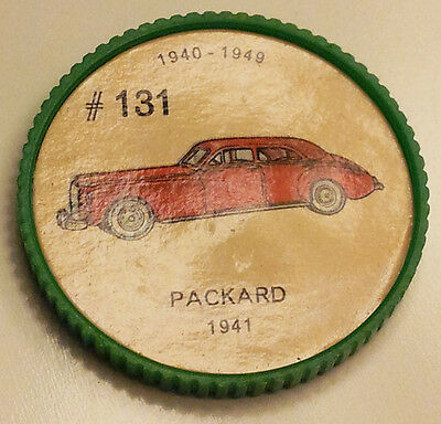 Vintage Jell-O Collectors Picture Wheel Coins - 1940 - 1949 - #131, Packard