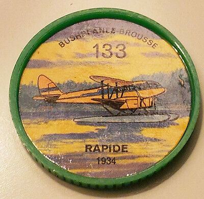 Vintage Jell-O / Hostess Collectors Airplane Bushplane Coins - Rapide #133