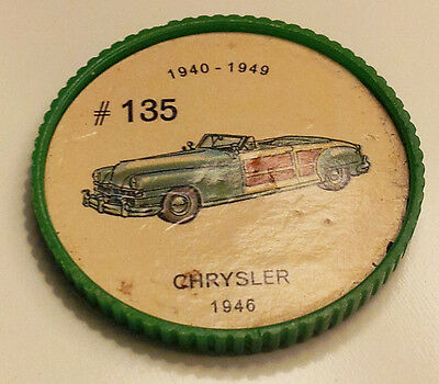 Vintage Jell-O Collectors Picture Wheel Coins - 1940 - 1949 - #135, Chrysler
