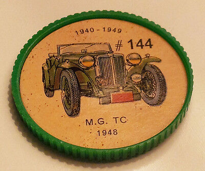 Vintage Jell-O Collectors Picture Wheel Coins - 1940 - 1949 - #144, MG TC