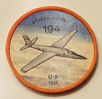 "Vintage Jell-O / Hostess Collectors Airplane ""Others"" Coins - U-2 #194"