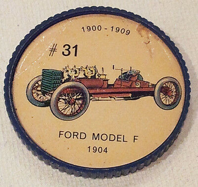 Vintage Jell-O Picture Wheel Coin -- (1900 - 1909) -- #31 Ford Model F