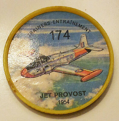 Vintage Jell-O / Hostess Collectors Airplane Trainers Coins - Jet Provost #174