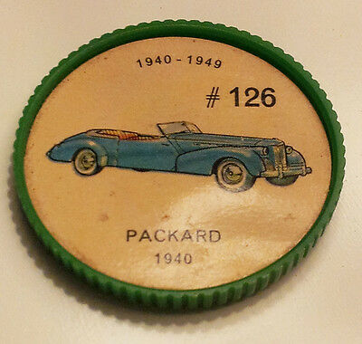 Vintage Jell-O Collectors Picture Wheel Coins - 1940 - 1949 - #126, Packard