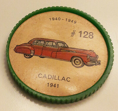 Vintage Jell-O Collectors Picture Wheel Coins - 1940 - 1949 - #128, Cadillac
