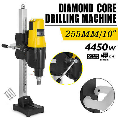 255MM Diamond Concrete Core Drill Machine Industrial MetalBase Bench Mounted