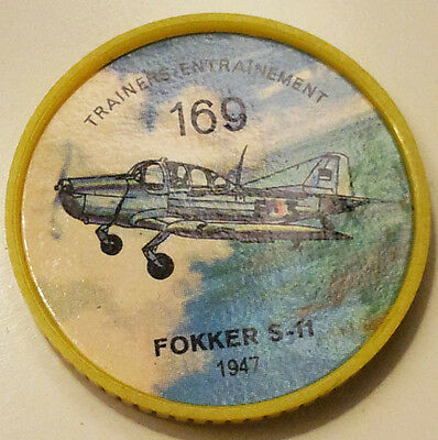 Vintage Jell-O / Hostess Collectors Airplane Trainers Coins - Fokker S-11 #169