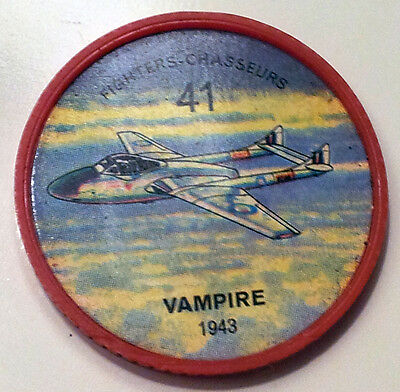 Vintage Jell-O / Hostess Collectors Airplane Fighters Coins - #41 - Vampire