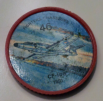 Vintage Jell-O / Hostess Collectors Airplane Fighters Coins - #46 - CF-100