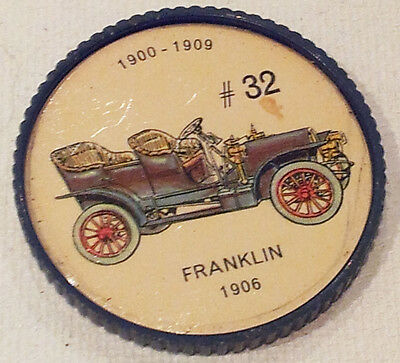 Vintage Jell-O Picture Wheel Coin -- (1900 - 1909) -- #32 Franklin