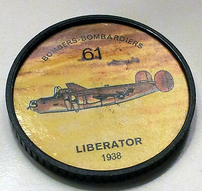 Vintage Jell-O / Hostess Collectors Airplane Bombers Coins - Liberator (1938)