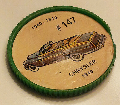 Vintage Jell-O Collectors Picture Wheel Coins - 1940 - 1949 - #147, Chrysler
