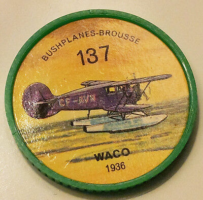 Vintage Jell-O / Hostess Collectors Airplane Bushplane Coins - Waco #137