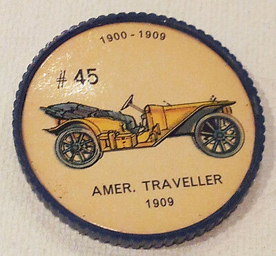 Vintage Jell-O Picture Wheel Coin -- (1900 - 1909) -- #45 Amer. Traveller