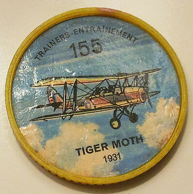 Vintage Jell-O / Hostess Collectors Airplane Trainers Coins - Tiger Moth #155