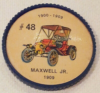 Vintage Jell-O Picture Wheel Coin -- (1900 - 1909) -- #48 Maxwell Jr.