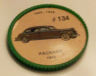 Vintage Jell-O Collectors Picture Wheel Coins - 1940 - 1949 - #134, Packard