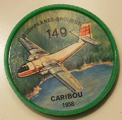 Vintage Jell-O / Hostess Collectors Airplane Bushplane Coins - Caribou #149