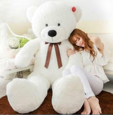 "39"" Giant Big Cute Plush Stuffed Teddy Bear Soft 100% Cotton Toy Xmas Gift X263"