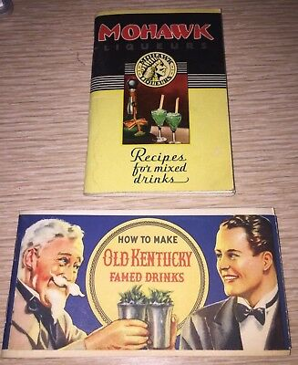 Mohawk Liqueurs Brown Forman 1930's bar guides vintage cocktail Detroit Kentucky