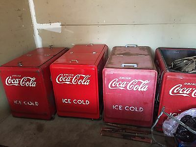 1940's Westinghouse Vintage Coca Cola Machines and Ice Chests LOT