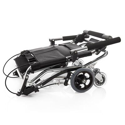 Lightweight wheelchair 2000 aluminum alloy elderly travel transport in a bag