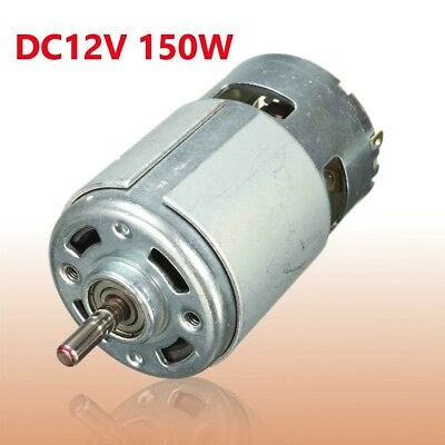 775 DC 12V-24V 13000-15000rpm Large Torque Low Noise High Speed Motor 5mm Shaft